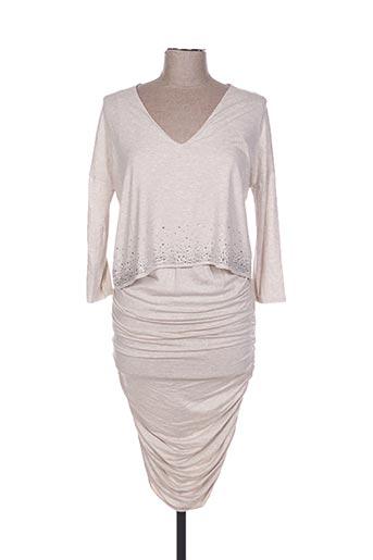 Robe longue beige POUPÉE DE SOIE pour femme