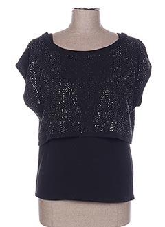 Sweat-shirt noir POUPÉE DE SOIE pour femme