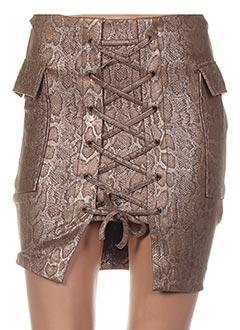 Jupe courte beige POUPÉE DE SOIE pour femme