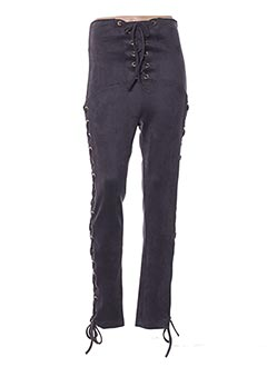 Pantalon casual gris POUPÉE DE SOIE pour femme
