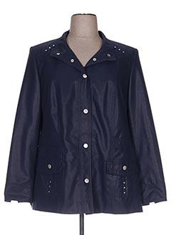 Veste simili cuir bleu KIRSTEN pour femme