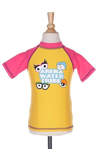 Haut de maillot de bain jaune ARENA pour fille