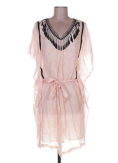 Robe courte rose HELENA SOREL pour femme