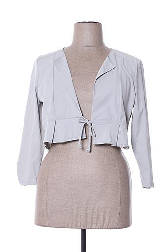 Veste casual gris MALOKA pour femme