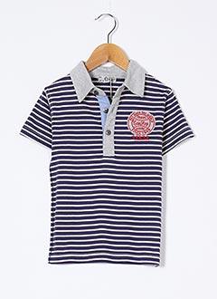 Polo manches courtes bleu CONFETTI pour garçon