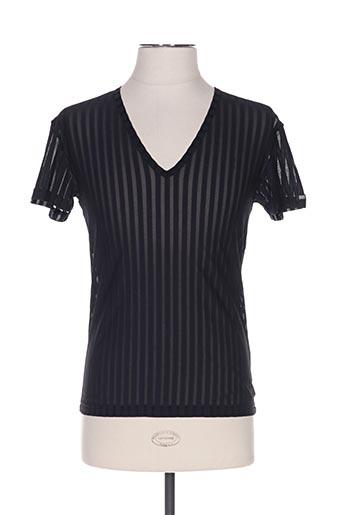 T-shirt manches courtes noir BODYART pour homme
