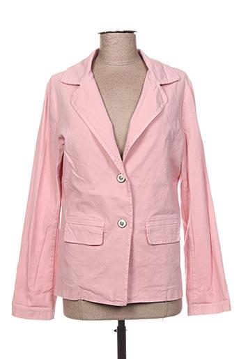 T-shirt manches longues rose CHANTAL B. pour femme