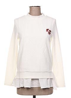 Sweat-shirt blanc CACHE CACHE pour femme