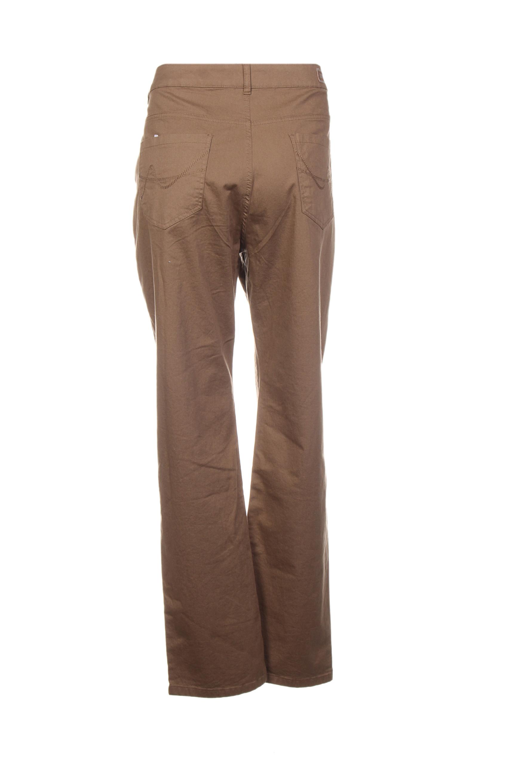 Scottage Pantalons Decontractes Femme De Couleur Marron En Soldes Pas Cher 1387768-marron