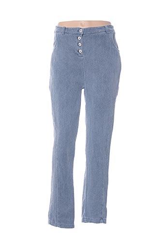 Pantalon casual bleu CHANTAL.B pour femme