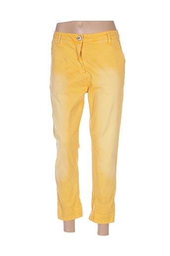 Pantalon 7/8 jaune BANDITAS FROM MARSEILLE pour femme