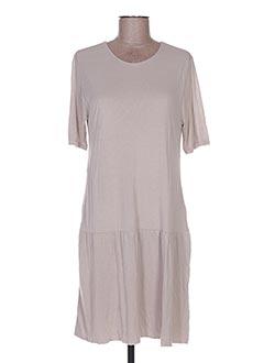 Robe mi-longue gris ALLUDE pour femme