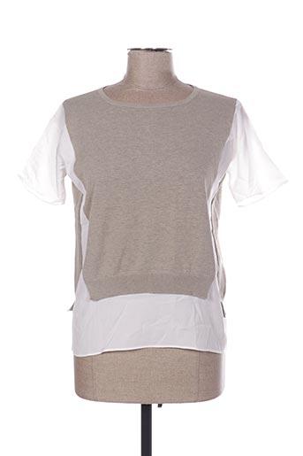 Pull tunique beige FABIANA FILIPPI pour femme