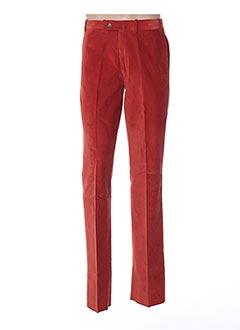 Pantalon casual orange BERNARD ZINS pour homme