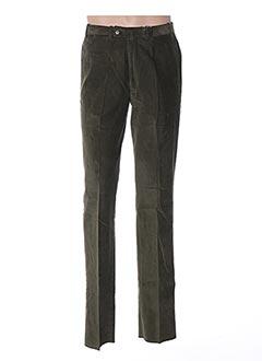 Pantalon casual vert BERNARD ZINS pour homme