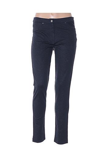 Pantalon casual bleu D.EXTERIOR pour femme