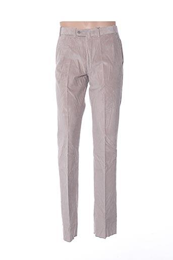 Pantalon casual gris BERNARD ZINS pour homme