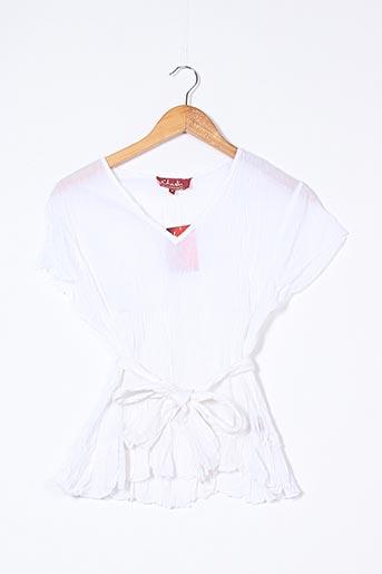Blouse manches courtes blanc CHADIA pour femme