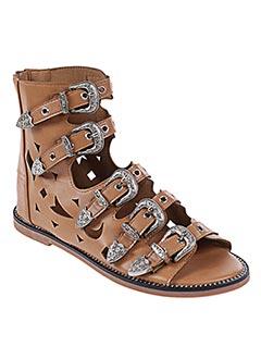 Sandales/Nu pieds beige BO'AIME pour femme