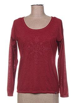 T-shirt manches longues rouge LOLA ESPELETA pour femme