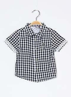 Chemise manches courtes noir 3 POMMES pour garçon