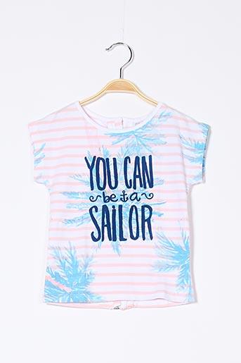 T-shirt manches courtes rose BOBOLI pour fille