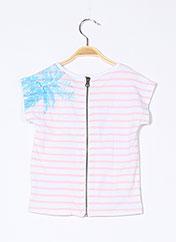 T-shirt manches courtes rose BOBOLI pour fille seconde vue