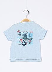 T-shirt manches courtes bleu 3 POMMES pour garçon seconde vue