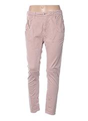 Pantalon casual rose MANILA GRACE pour femme seconde vue