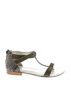 Sandales/Nu pieds vert HE SPRING pour femme
