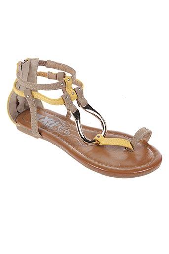 Sandales/Nu pieds jaune XTI pour fille