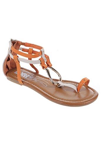 Sandales/Nu pieds orange XTI pour fille
