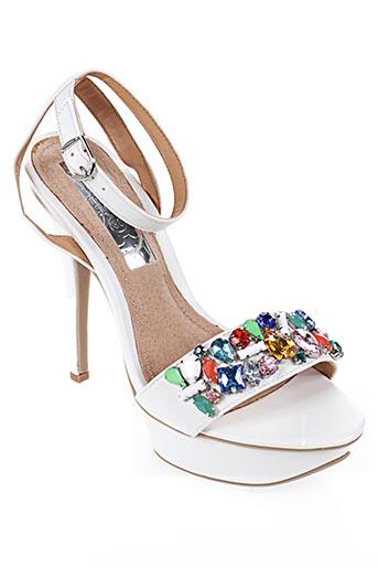 Sandales/Nu pieds blanc CASSIS COTE D'AZUR pour femme