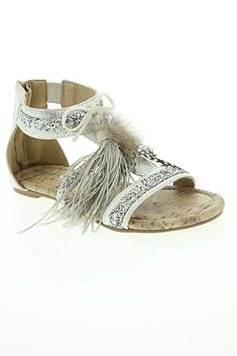 Sandales/Nu pieds gris COC'TAIL pour fille