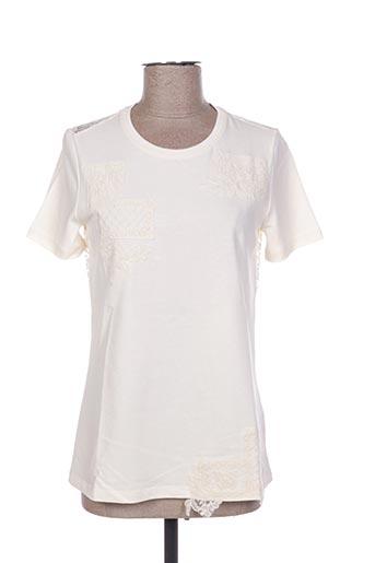 T-shirt manches courtes beige ERMANNO SCERVINO pour femme