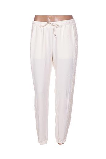Pantalon 7/8 beige ERMANNO SCERVINO pour femme