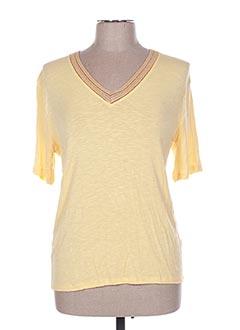 T-shirt manches courtes jaune ANGE pour femme