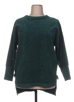 Tunique manches longues vert WENDEE OU pour femme