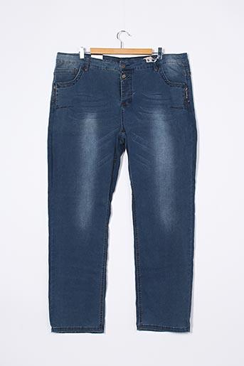 Jeans coupe droite bleu ADIA pour femme