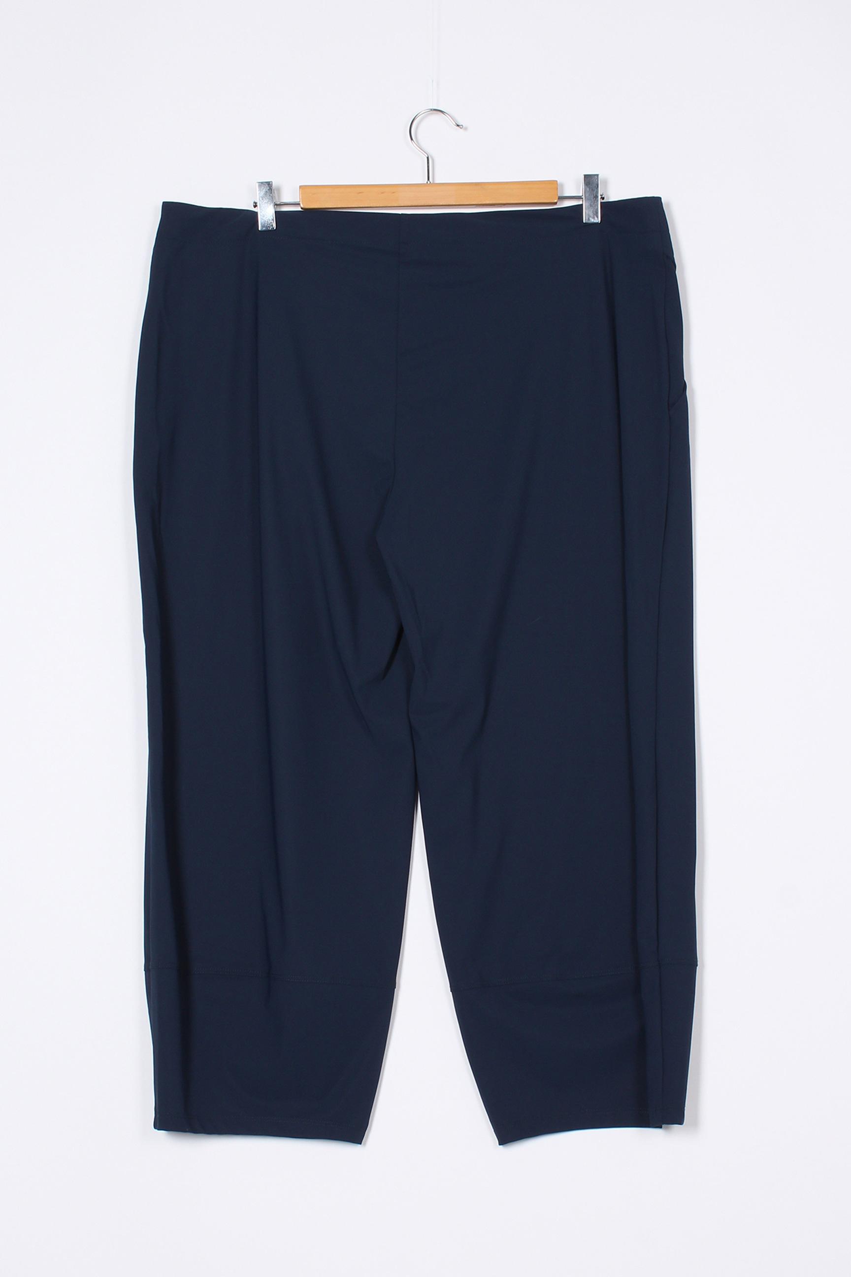 3322 Pantalon7 8 Femme De Couleur Bleu En Soldes Pas Cher 1390360-bleu00