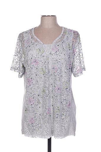 T-shirt manches courtes gris BAGORAZ pour femme