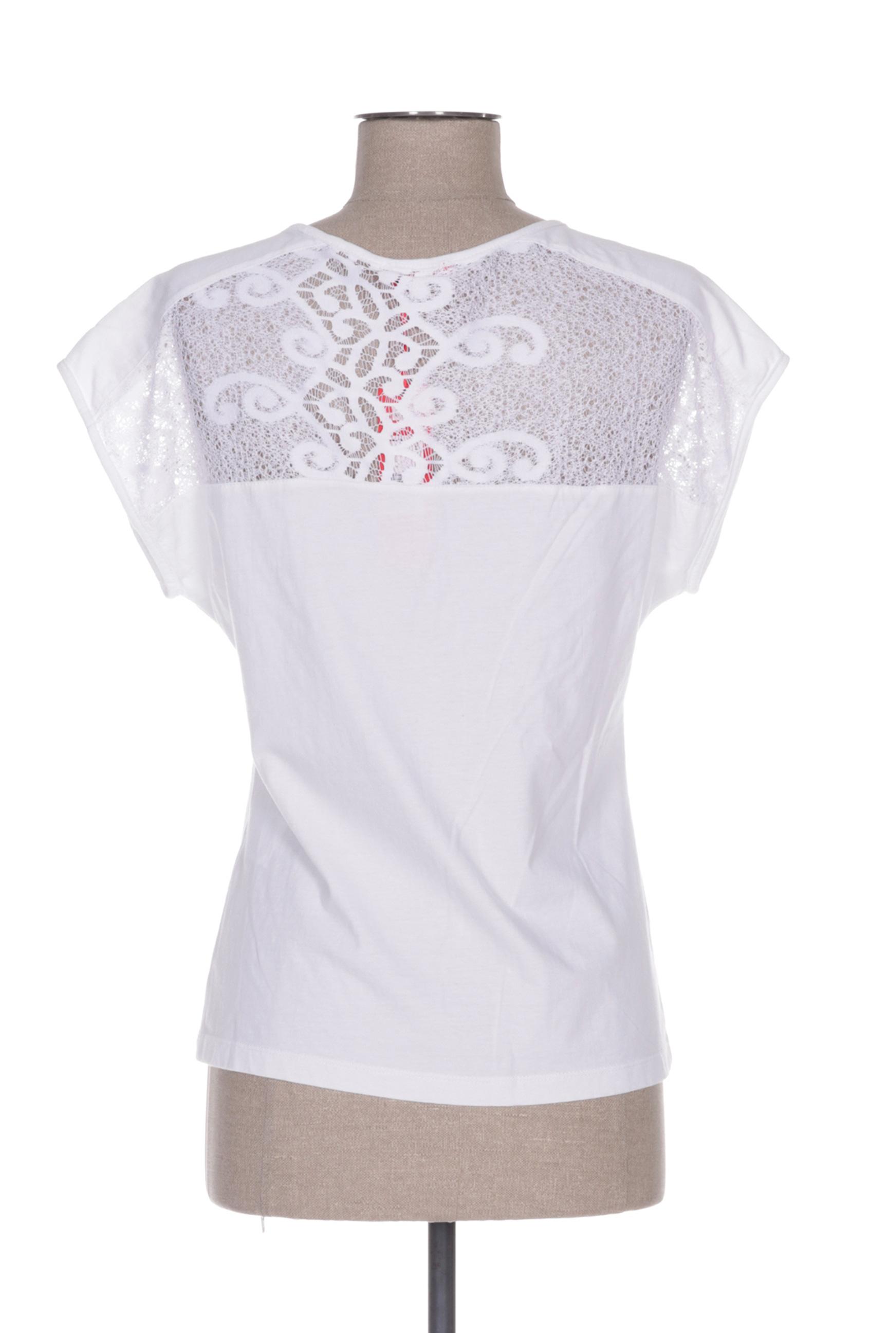 Felino Manches Courtes 1 Femme De Couleur Blanc En Soldes Pas Cher 1435264-blanc0