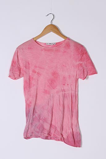 Pull col rond rose ZARA pour femme
