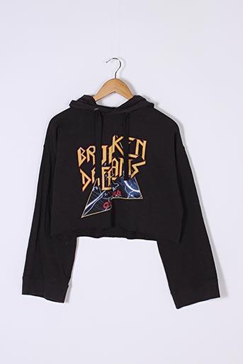 Sweat-shirt noir DIVIDED H&M pour femme