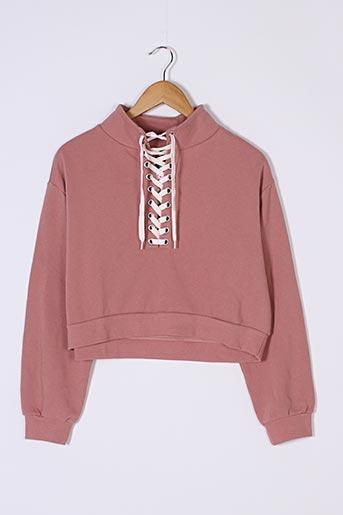 Sweat-shirt rose DIVIDED H&M pour femme