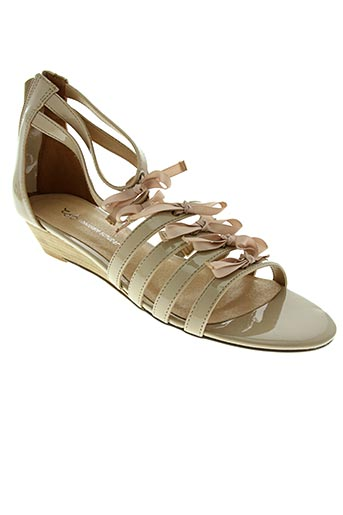 Sandales/Nu pieds beige CHOCOLATE SCHUBAR pour femme