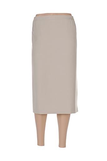Jupe mi-longue beige FASHION COLLECTION pour femme