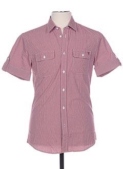 Chemise manches courtes rouge TRUSSARDI JEANS pour homme