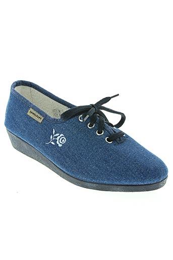 Chaussons/Pantoufles bleu SEMELFLEX pour femme