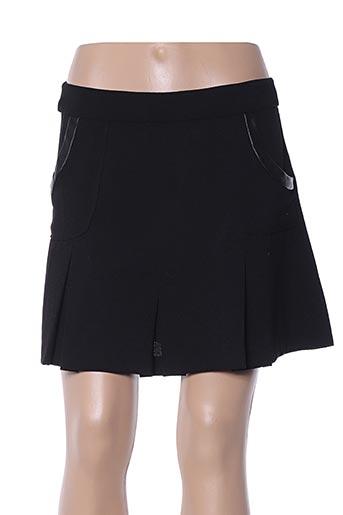 Jupe courte noir COLOR BLOCK pour femme